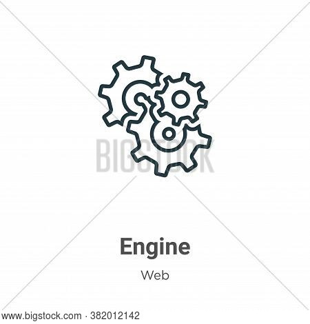 Engine icon isolated on white background from web collection. Engine icon trendy and modern Engine s