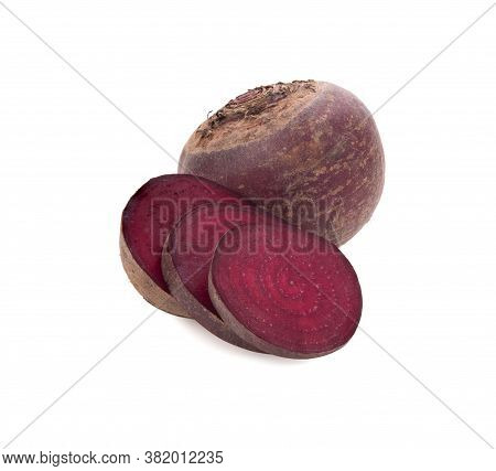 Beet Roots Fresh Isolated On White Background
