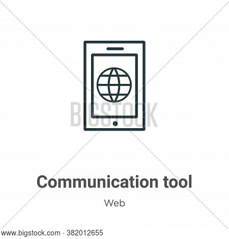Communication tool icon isolated on white background from web collection. Communication tool icon tr