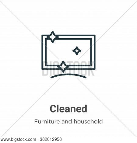 Cleaned icon isolated on white background from furniture and household collection. Cleaned icon tren