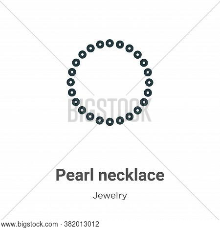 Pearl necklace icon isolated on white background from jewelry collection. Pearl necklace icon trendy