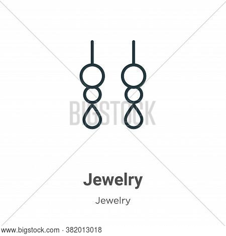 Jewelry icon isolated on white background from jewelry collection. Jewelry icon trendy and modern Je