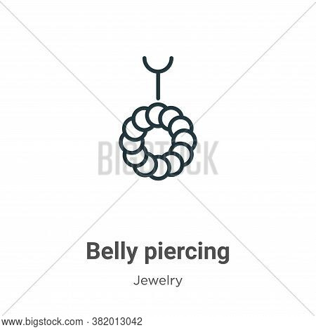 Belly piercing icon isolated on white background from jewelry collection. Belly piercing icon trendy