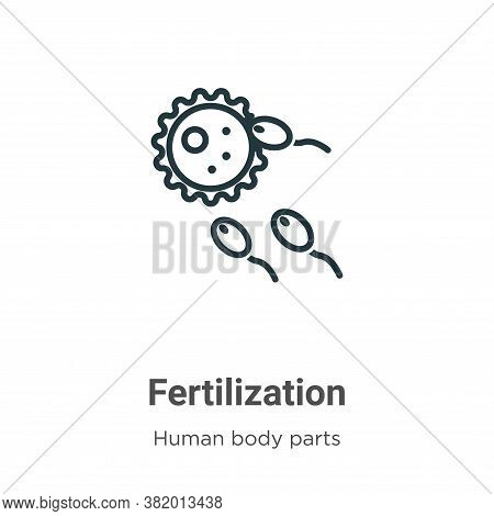 Fertilization icon isolated on white background from human body parts collection. Fertilization icon