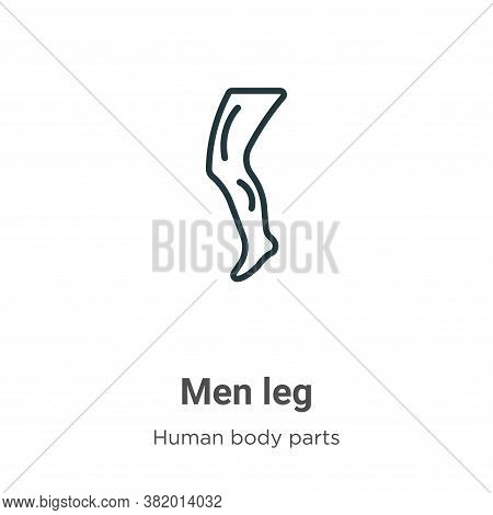 Men leg icon isolated on white background from human body parts collection. Men leg icon trendy and