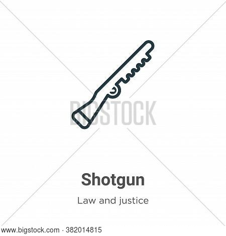 Shotgun icon isolated on white background from law and justice collection. Shotgun icon trendy and m