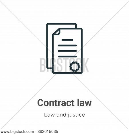 Contract law icon isolated on white background from law and justice collection. Contract law icon tr