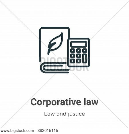 Corporative law icon isolated on white background from law and justice collection. Corporative law i
