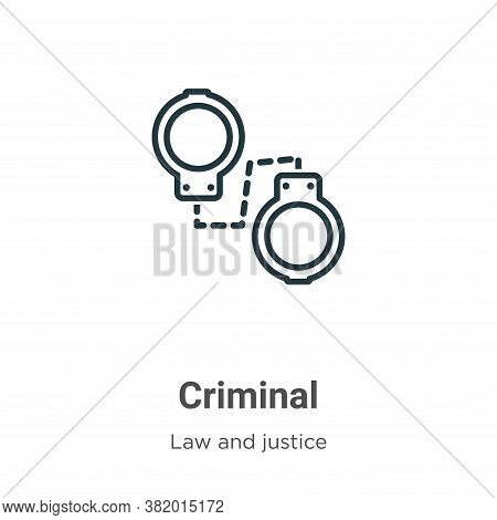 Criminal icon isolated on white background from law and justice collection. Criminal icon trendy and