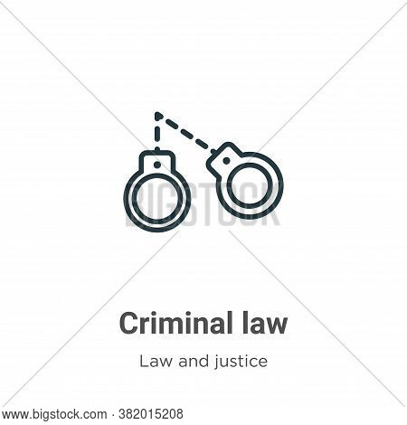 Criminal law icon isolated on white background from law and justice collection. Criminal law icon tr