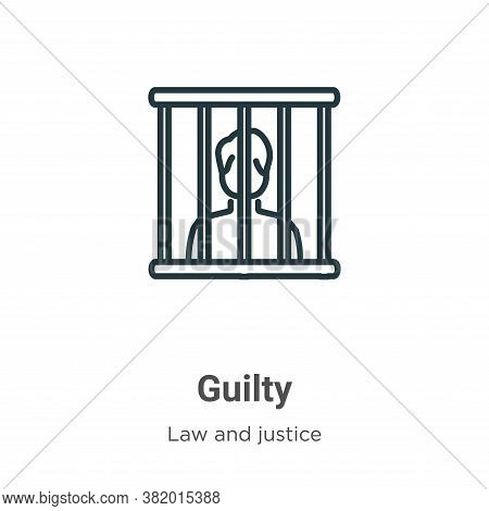 Guilty icon isolated on white background from law and justice collection. Guilty icon trendy and mod
