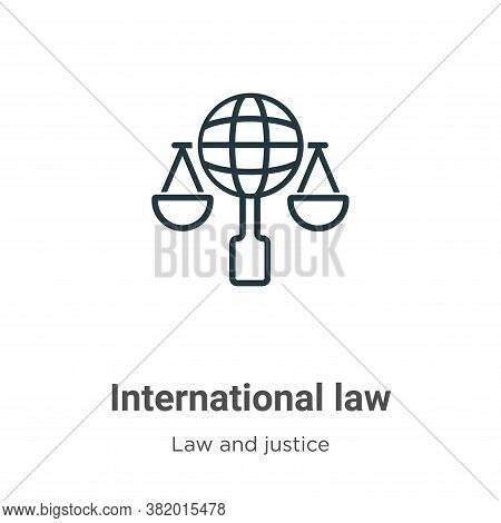 International law icon isolated on white background from law and justice collection. International l