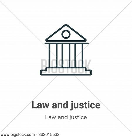 Law and justice icon isolated on white background from law and justice collection. Law and justice i