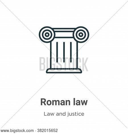 Roman law icon isolated on white background from law and justice collection. Roman law icon trendy a