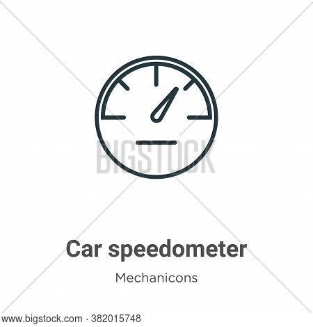 Car speedometer icon isolated on white background from mechanicons collection. Car speedometer icon