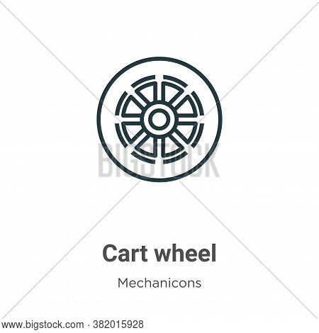 Cart wheel icon isolated on white background from mechanicons collection. Cart wheel icon trendy and