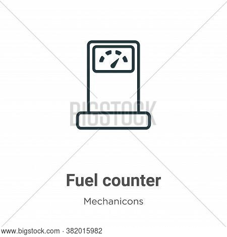 Fuel counter icon isolated on white background from mechanicons collection. Fuel counter icon trendy