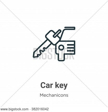 Car key icon isolated on white background from mechanicons collection. Car key icon trendy and moder