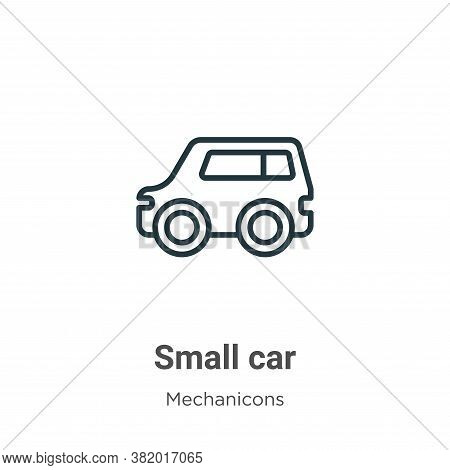 Small car icon isolated on white background from mechanicons collection. Small car icon trendy and m