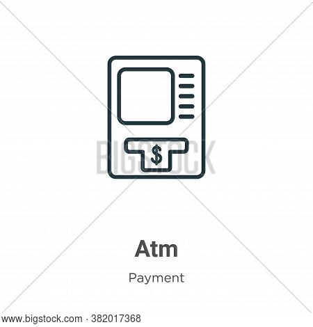 Atm icon isolated on white background from payment collection. Atm icon trendy and modern Atm symbol