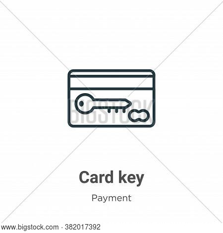 Card key icon isolated on white background from payment collection. Card key icon trendy and modern