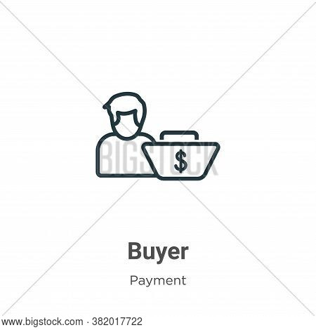 Buyer icon isolated on white background from payment methods collection. Buyer icon trendy and moder