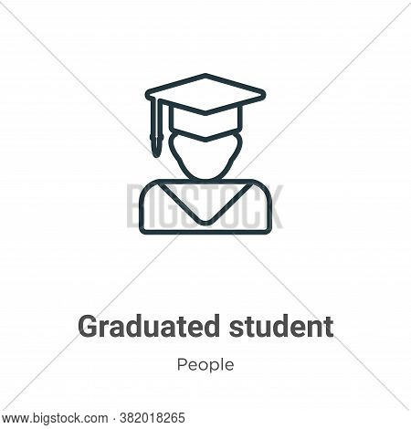 Graduated student icon isolated on white background from people collection. Graduated student icon t