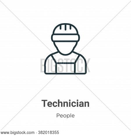 Technician Icon From People Collection Isolated On White Background.