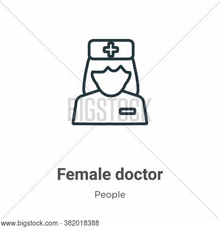 Female doctor icon isolated on white background from people collection. Female doctor icon trendy an