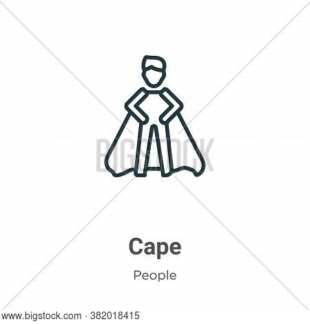 Cape icon isolated on white background from people collection. Cape icon trendy and modern Cape symb