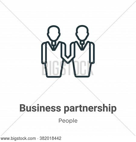 Business partnership icon isolated on white background from people collection. Business partnership