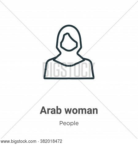 Arab woman icon isolated on white background from people collection. Arab woman icon trendy and mode