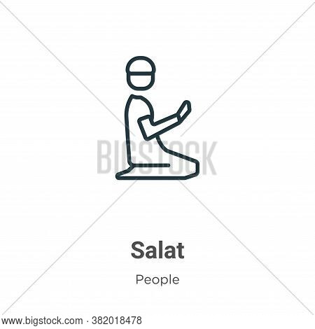 Salat icon isolated on white background from people collection. Salat icon trendy and modern Salat s