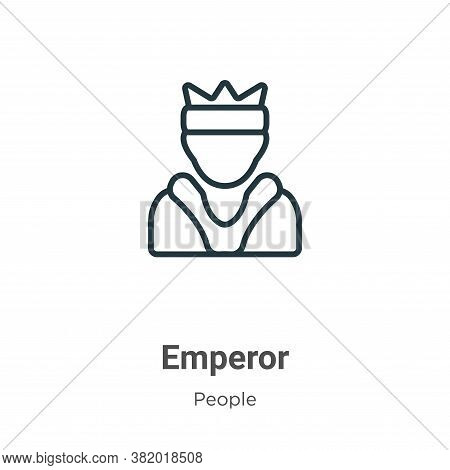 Emperor icon isolated on white background from people collection. Emperor icon trendy and modern Emp