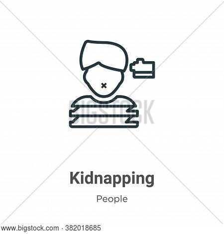 Kidnapping icon isolated on white background from people collection. Kidnapping icon trendy and mode