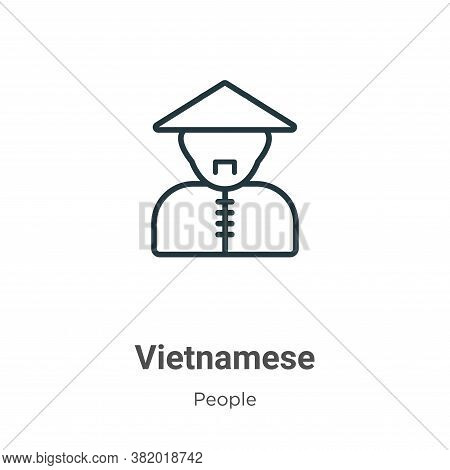 Vietnamese icon isolated on white background from people collection. Vietnamese icon trendy and mode