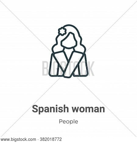 Spanish woman icon isolated on white background from people collection. Spanish woman icon trendy an