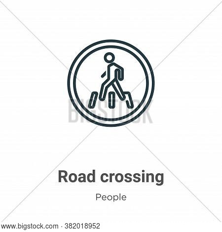 Road crossing icon isolated on white background from people collection. Road crossing icon trendy an