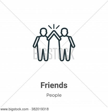 Friends icon isolated on white background from people collection. Friends icon trendy and modern Fri
