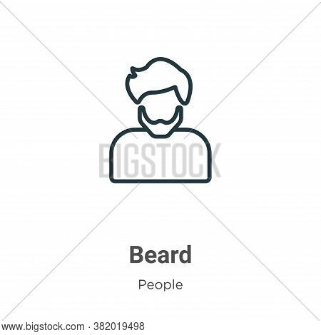 Beard icon isolated on white background from people collection. Beard icon trendy and modern Beard s