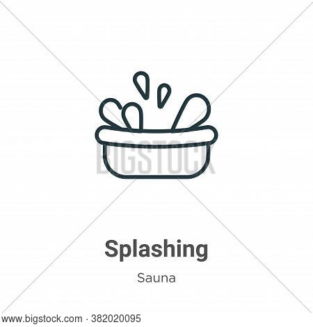 Splashing icon isolated on white background from sauna collection. Splashing icon trendy and modern
