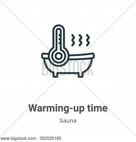 Warming-up time icon isolated on white background from sauna collection. Warming-up time icon trendy