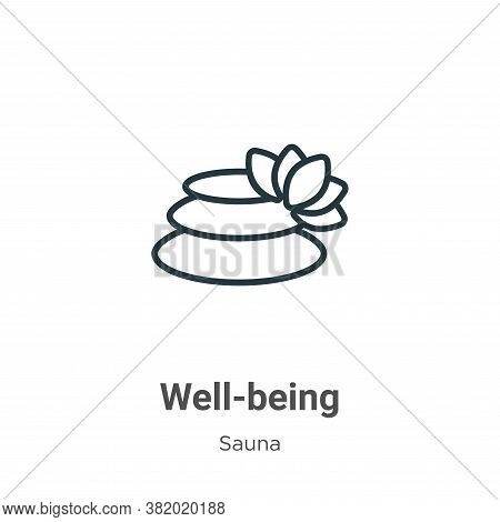 Well-being icon isolated on white background from sauna collection. Well-being icon trendy and moder