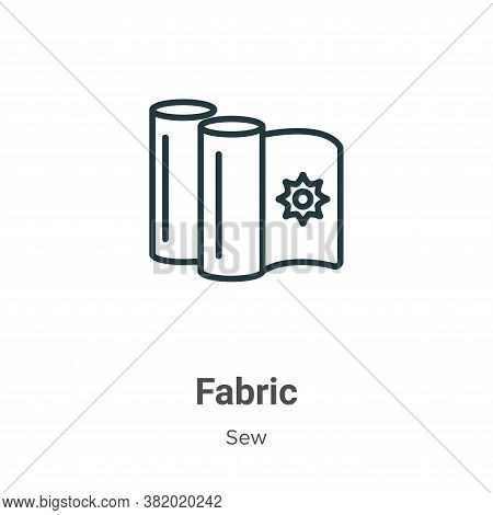 Fabric icon isolated on white background from sew collection. Fabric icon trendy and modern Fabric s