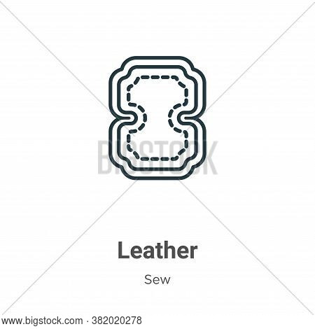 Leather icon isolated on white background from sew collection. Leather icon trendy and modern Leathe