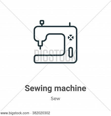 Sewing machine icon isolated on white background from sew collection. Sewing machine icon trendy and