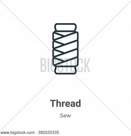Thread icon isolated on white background from sew collection. Thread icon trendy and modern Thread s