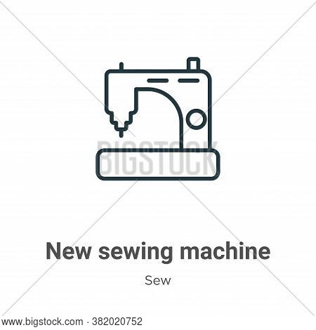 New sewing machine icon isolated on white background from sew collection. New sewing machine icon tr
