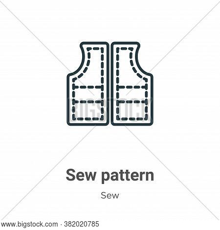 Sew pattern icon isolated on white background from sew collection. Sew pattern icon trendy and moder