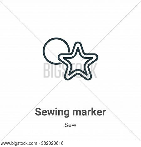 Sewing marker icon isolated on white background from sew collection. Sewing marker icon trendy and m